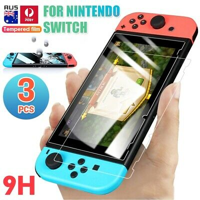 3x for Nintendo Switch Genuine 100% TEMPERED GLASS Screen Protector Cover Film