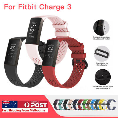 For Fitbit Charge 3 Watch Band Silicone Replacement Strap Wristband