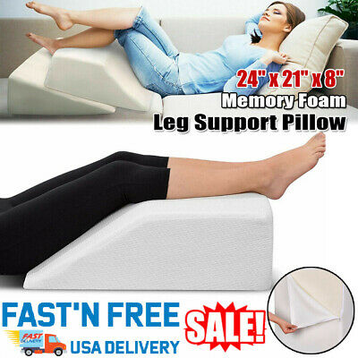 Memory Foam Elevation Wedge Leg Support Pillow Foot Rest Bed Sleeping Cushion US