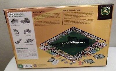 John Deere Tractor-Opoly Collector's Edition Monopoly Game - Brand New Sealed