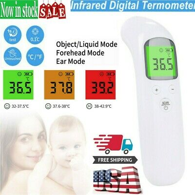LCD Digital Non-contact IR Infrared Thermometer Forehead Body Temperature USA EN