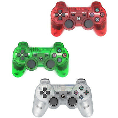 Clear Crystal Controller Gamepad Joystick Joypad Sony PS3 WIRED (Wire included)
