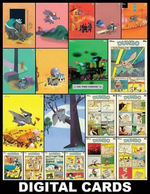Topps Disney Collect DUMBO HERITAGE [19 CARD COMIC/ILLUSTRATIONS SET] FAST!