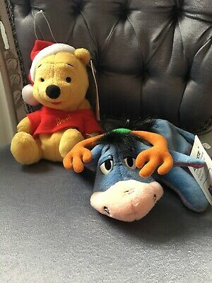 Collectable Winnie the Pooh & Eeyore Holiday Beanies Excellent Condition