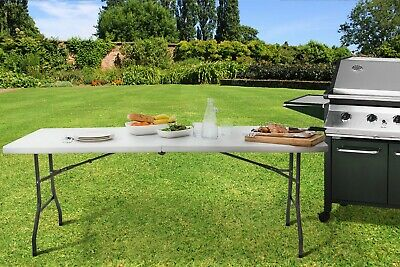 6Ft Catering Camping Heavy Duty Folding Table Trestle Picnic Party Bbq 1.8 Metre