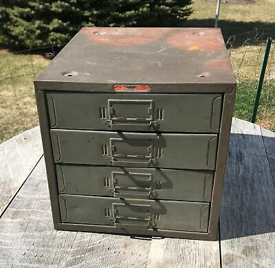 Vintage Union Chests Small Parts Cabinet 4 Drawer Storage Box No. 410