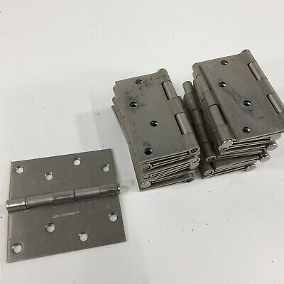 """(17) Gatehouse 4"""" Commercial Square Stainless Hinges - Lot of 17"""