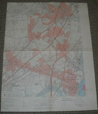 Perth Amboy, New Jersey USGS Topographic Map 1956 7.5 Minute Series