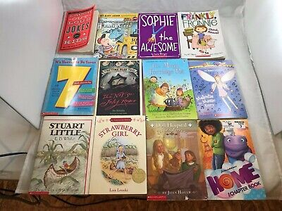 Lot of 12: Scholastic Chapter Books for Young Girls, Classics, Series and more..