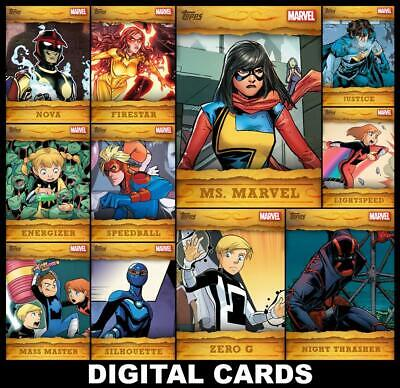 Topps Marvel Collect OUTLAWED 2020 [11 CARD FULL SET] FAST DELIVERY!