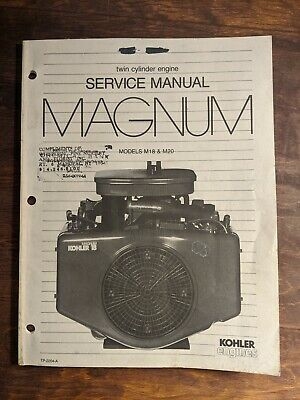 Kohler Twin Cylinder Engine MAGNUM Models: M18  M20 Service Manual 1986 Original