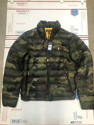 Polo Ralph Lauren purple label RLX mens small s down puffer camouflage jacket