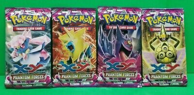 Pokemon TCG XY Phantom Forces Factory Sealed Booster Packs Lot x4 NEW!!
