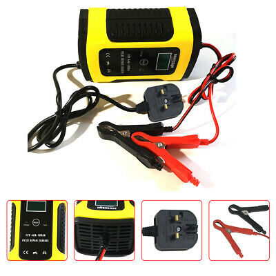 12V/6A Intelligent Auto Car Battery Charger Pulse One Clip Repair An Active Acid