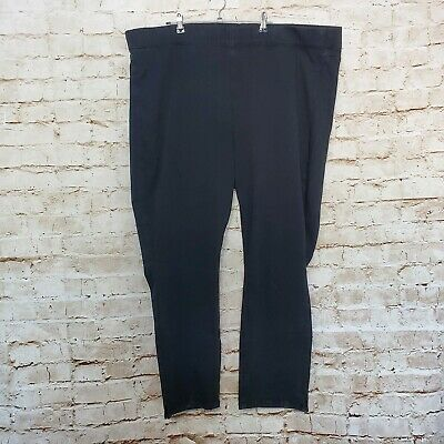 NYDJ Women's Alina Pull-On Ankle Black Jeans Stretch Pants Leggings Plus Sz 24W