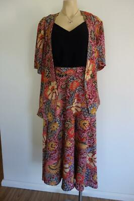 Sussan Vintage 80's Skirt & Jacket Suit Peacocks New Wave 8-10