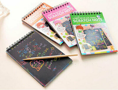 Scratch Notebook Travel Kids Party Gift Scratcher Magic Drawing Book Set of FIVE