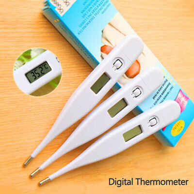 LCD Digital Audible Thermometer Fever Alarm Adults Kids Baby Oral Underarm Home