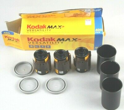 Kodak Max 400 Speed 35mm Film 24 Exp. Sealed New Expired Film 3 Pack