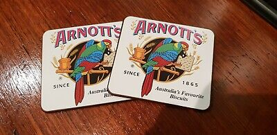 Australian Arnott's Biscuits Coasters: Pair in Great Condition!