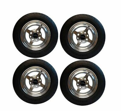 """Thor 10"""" Machined Face Golf Cart Wheels & Tires- Set of 4"""