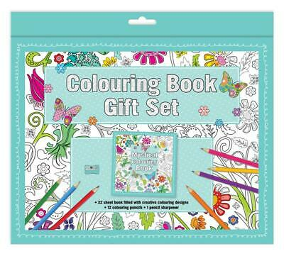 Mystical Adult Colouring Book Gift Set With 64 Pages Anti-Stress Art Therapy