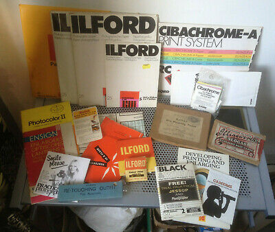 Colelction Of Vintage Darkroom Photography equipment To include ILFORD Paper , F