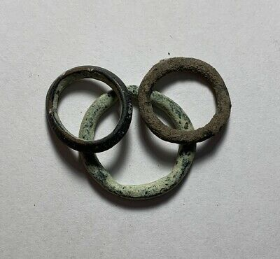 NICE! ANCIENT AE Lot Bronze CELTIC PROTO TYPE Ring MONEY 500BC 9.2g