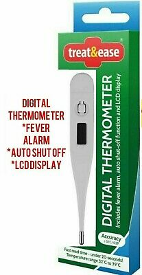 Digital LCD Thermometer Medical Baby Adult Body Safe Temperature Oral alarm