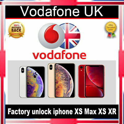 Vodafone UK iPhone XS Max / XS / XR Factory Unlock Service Clean Express Premium