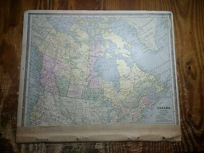 1885 Map of Canada - Also A Double Page Map of North America