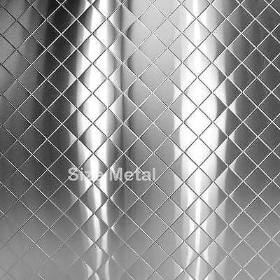 """Food Truck & Restaurant Chrome Quilted Stainless Steel, 24Ga 48""""x96"""" -  6 Pack"""