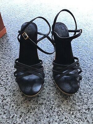 Naturalizer Womens Beacon Black Ankle Strap Flats Size 10 369256