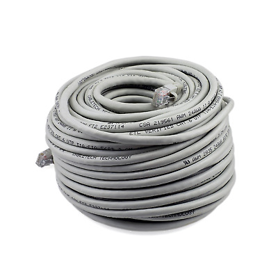 PTC Cat 6 UTP Patch Gray Ethernet Internet LAN Network Cable 100 ft. 100' Grey