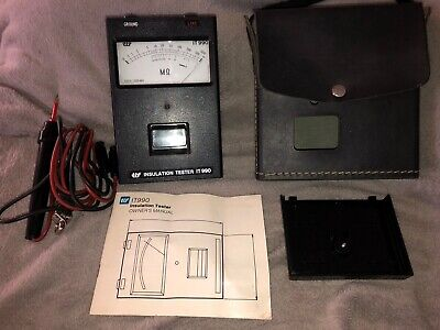 TIF Megohmmeter-Insulation Tester IT990 Complete & Excellent Condition.