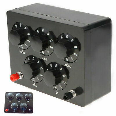 Equipment Resistance Box Iron Black Decade Resistor For Physical Teaching Tool