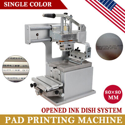 Single-color Manual Pad Printer Pad Printing Machine Label Logo DIY Transfer US