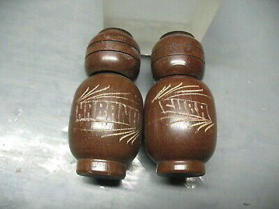 Ethnic   Salt  & Pepper  Shakers   Hand   Carved    Habana