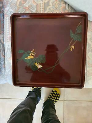 Lacquer ware serving tray