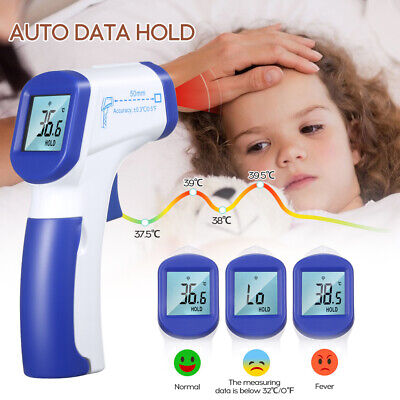Digital Infrared Baby Temperature Ear Forehead Body Thermometer Gauge Adult Kids