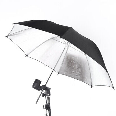 "33"" 83cm Photography Light Photo Studio Video Black Silver Soft Umbrella LA P5S4"
