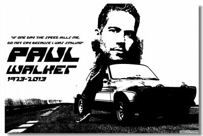 Poster Print Paul Walker Actor Model Star Club Wall Art 203
