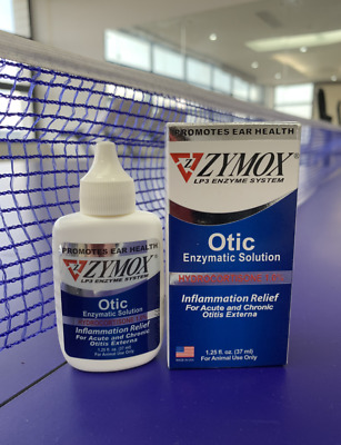 Zymox Pet King Brand Otic with Hydrocortisone Ear Drops for Dog and Cats 1.25 oz