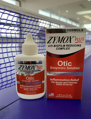 ZYMOX Otic Plus Enzymatic Ear Solution for Pet Dogs and Cat 1.25oz/4 oz/8 oz