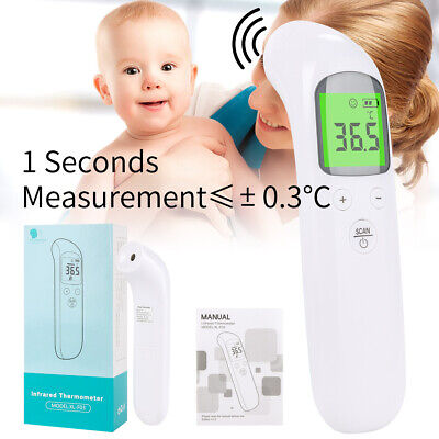 Non-contact LCD Digital Body Thermometer IR Infrared Forehead Thermometric USA E