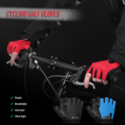 1 Pair Bike Gloves Half Finger Anti-skid Gloves Bicycle Cycling Riding V2A8