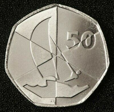 🇬🇮 GIBRALTAR 🇬🇮 50p coin 2019 Island Games Rare Uncirculated Fifty Pence