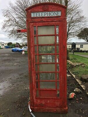 RED TELEPHONE BOX CAST OF THE TOP FRONT OF K6 KIOSK BOOTH WITH COAT HANGER