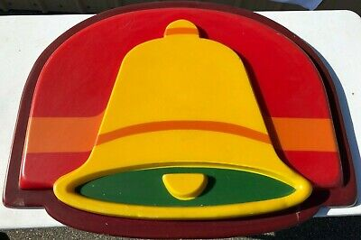 """Vintage 1980's Taco Bell Sign -  33.5""""x 26.5"""" - RARE!"""