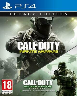 Call Of Duty Infinite Warfare Legacy Ed + Modern Warfare Ps4 Nuovo Playstation 4